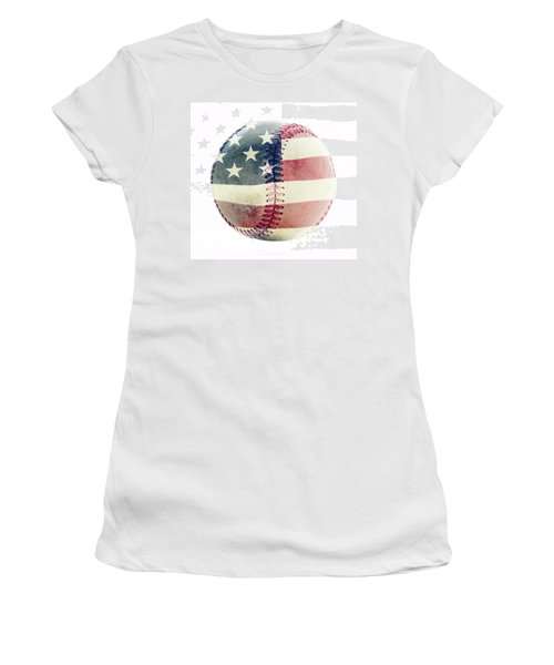 American Baseball Women's T-Shirt (Junior Cut) by Terry DeLuco