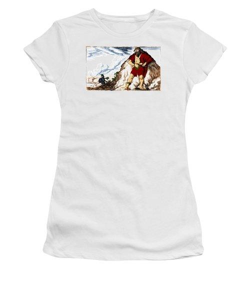 Atlas And Perseus, Greek Mythology Women's T-Shirt (Junior Cut) by Photo Researchers