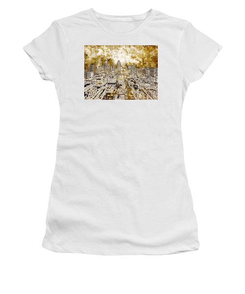 Austin Texas Abstract Panorama 6 Women's T-Shirt (Junior Cut) by Bekim Art