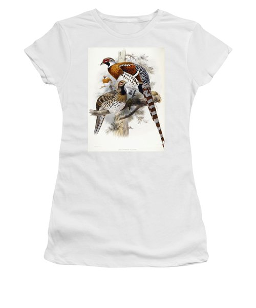 Elliot's Pheasant Women's T-Shirt (Junior Cut) by Joseph Wolf
