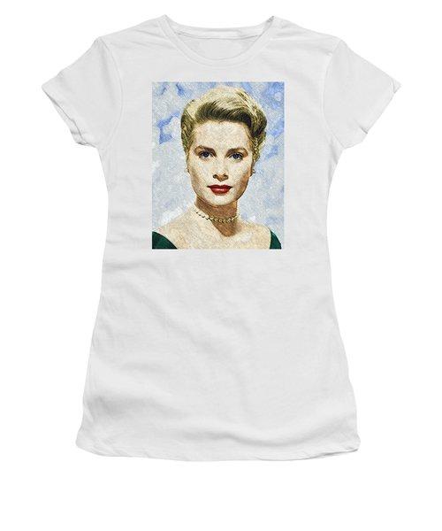 Grace Kelly Women's T-Shirt (Junior Cut) by Taylan Apukovska