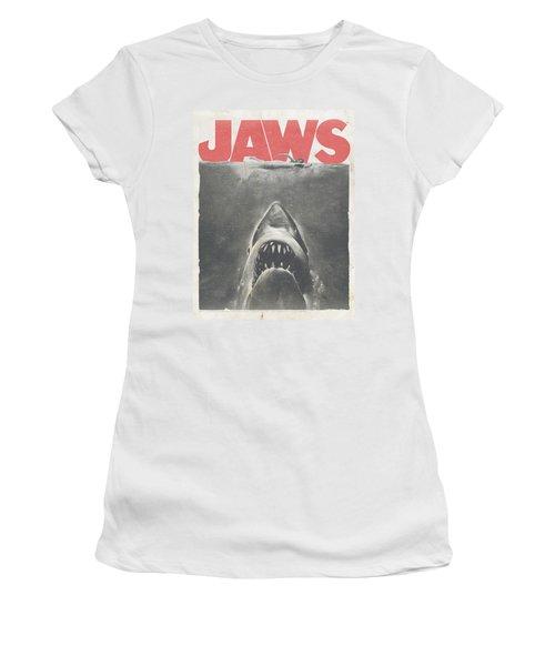Jaws - Classic Fear Women's T-Shirt (Junior Cut) by Brand A