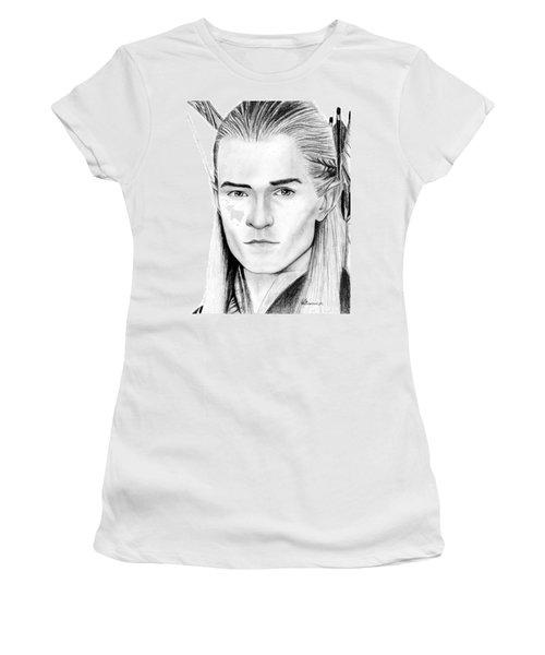 Legolas Greenleaf Women's T-Shirt (Junior Cut) by Kayleigh Semeniuk