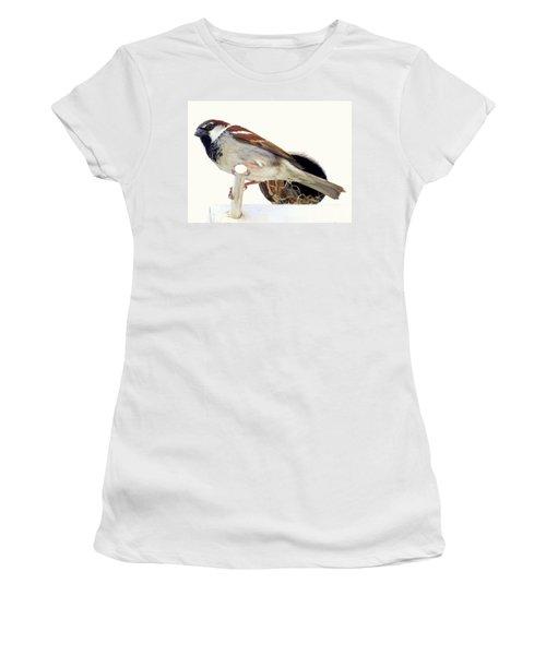 Little Sparrow Women's T-Shirt (Junior Cut) by Karen Wiles