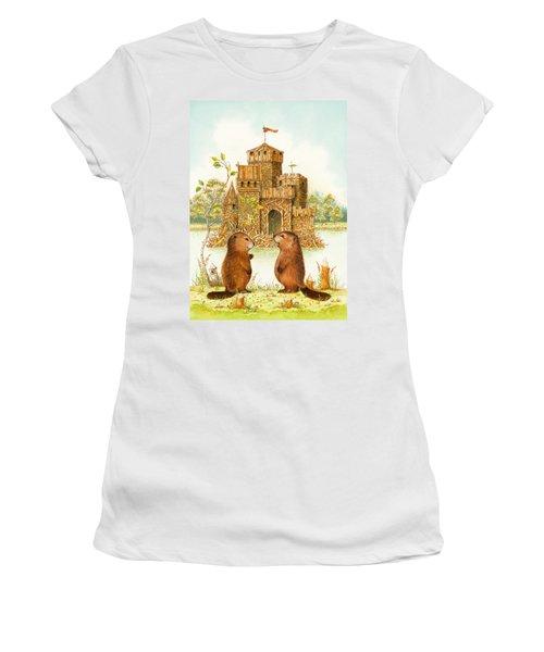 Mclodge Women's T-Shirt (Junior Cut) by Lynn Bywaters