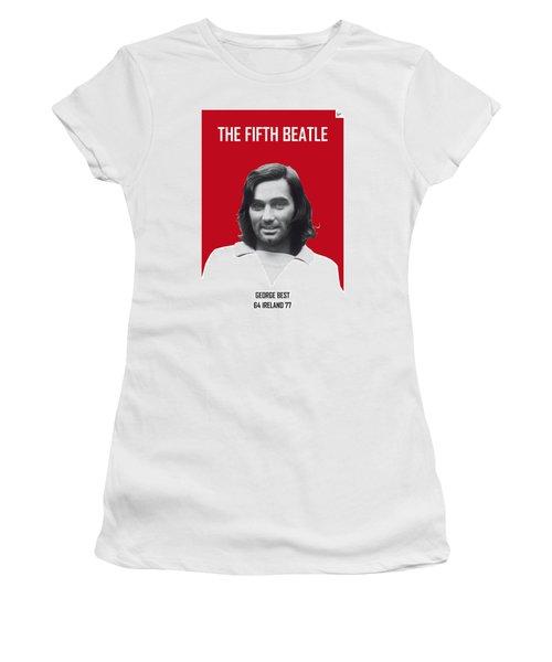 My Best Soccer Legend Poster Women's T-Shirt (Junior Cut) by Chungkong Art