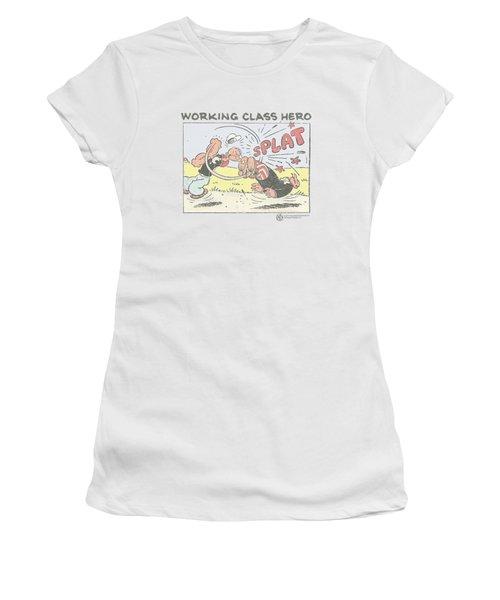 Popeye - Blue Bash Women's T-Shirt (Junior Cut) by Brand A