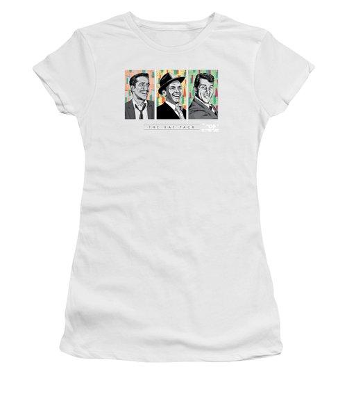 Rat Pack Pop Art Women's T-Shirt (Junior Cut) by Jim Zahniser