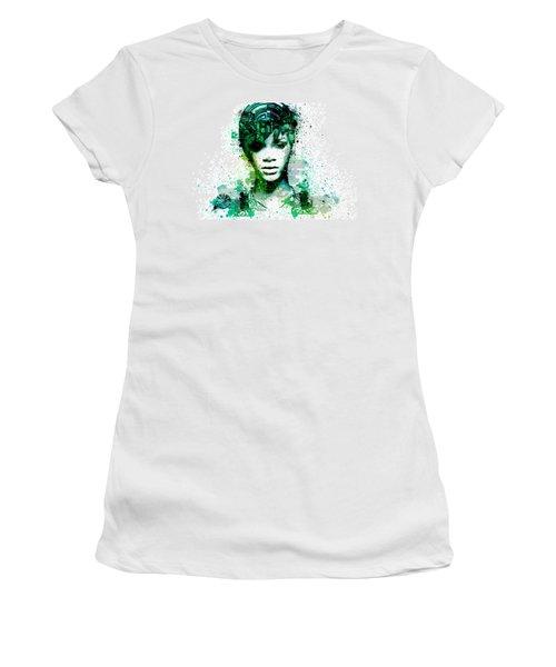 Rihanna 5 Women's T-Shirt (Junior Cut) by Bekim Art
