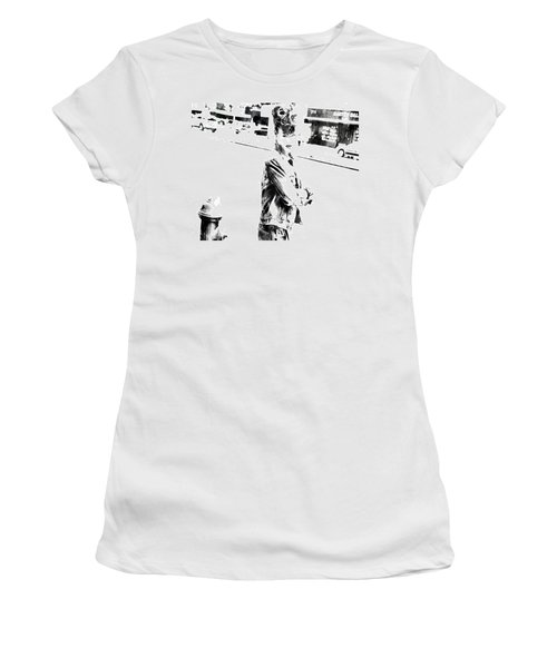 Rihanna Hanging Out Women's T-Shirt (Junior Cut) by Brian Reaves