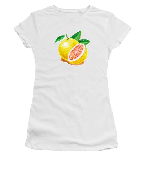 Ruby Red Grapefruit Women's T-Shirt (Junior Cut) by Irina Sztukowski
