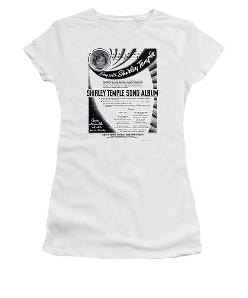 Shirley Temple Song Album Women's T-Shirt (Junior Cut) by Mel Thompson