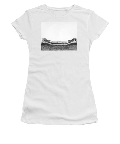 Soldiers' Field And Museum Women's T-Shirt (Junior Cut) by Underwood Archives