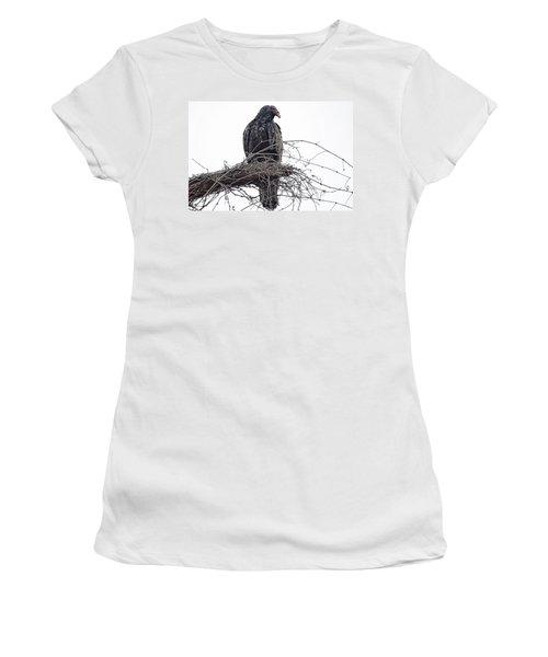 Turkey Vulture Women's T-Shirt (Junior Cut) by Douglas Barnard