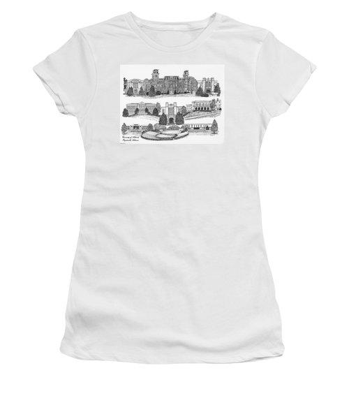 University Of Arkansas Fayetteville Women's T-Shirt (Junior Cut) by Liz  Bryant