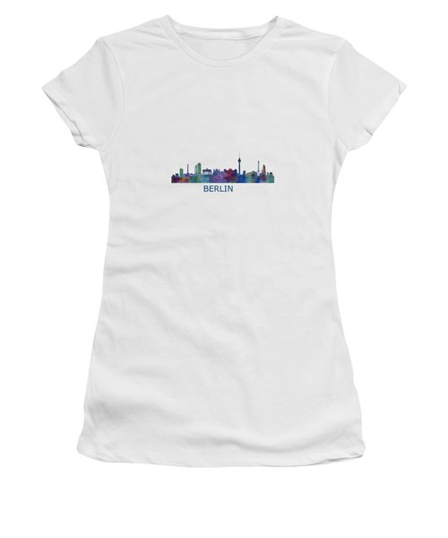 Berlin City Skyline Hq 1 Women's T-Shirt (Junior Cut) by HQ Photo