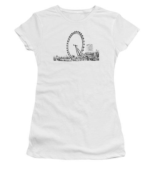 London Eye Women's T-Shirt (Junior Cut) by ISAW Company