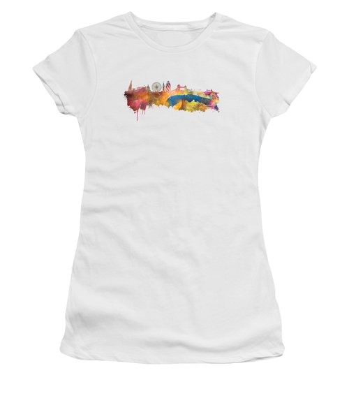 London Skyline Women's T-Shirt (Junior Cut) by Justyna JBJart