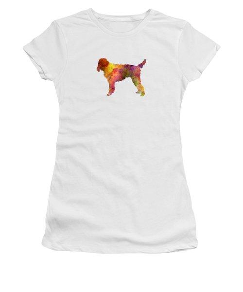 Medium Griffon Vendeen In Watercolor Women's T-Shirt (Junior Cut) by Pablo Romero