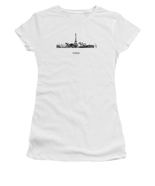 Paris France Skyline Women's T-Shirt (Junior Cut) by Marlene Watson