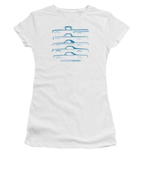 Pickupino Silhouettehistory Women's T-Shirt (Junior Cut) by Gabor Vida