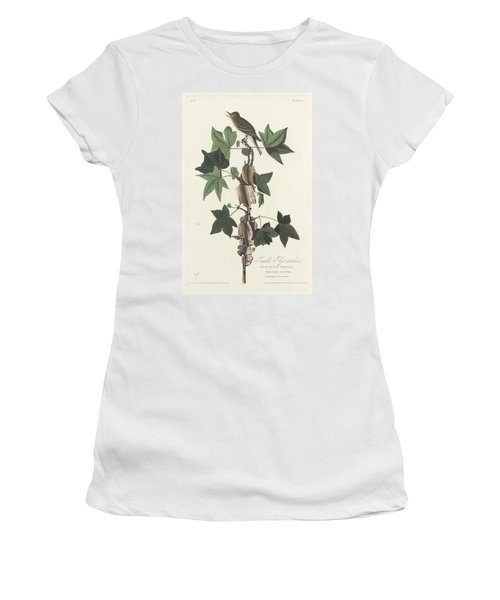 Traill's Flycatcher Women's T-Shirt (Junior Cut) by John James Audubon