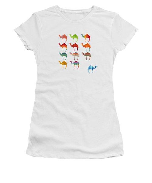 Camels Women's T-Shirt (Junior Cut) by Art Spectrum