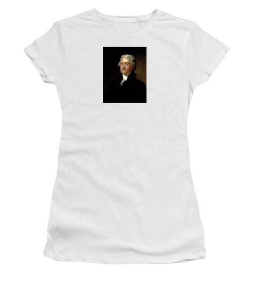 President Thomas Jefferson  Women's T-Shirt (Junior Cut) by War Is Hell Store