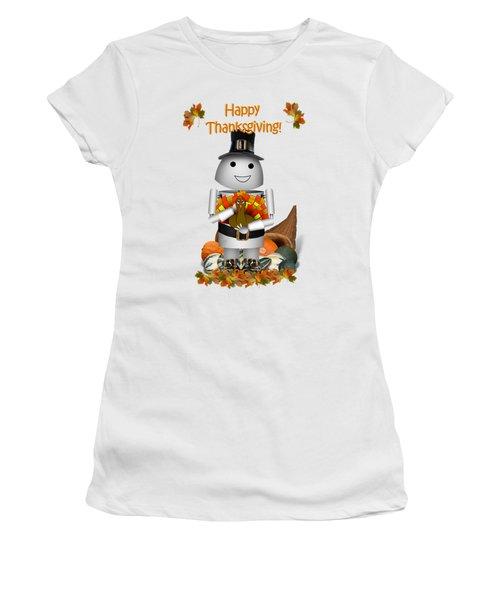Robo-x9 The Pilgrim Women's T-Shirt (Junior Cut) by Gravityx9  Designs