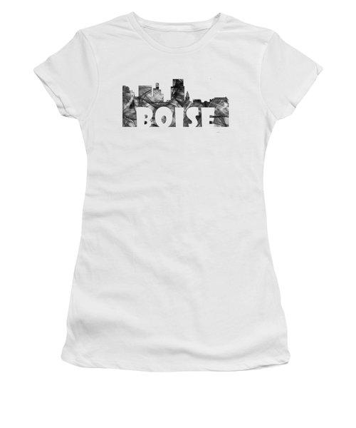 Boise Idaho Skyline Women's T-Shirt (Junior Cut) by Marlene Watson