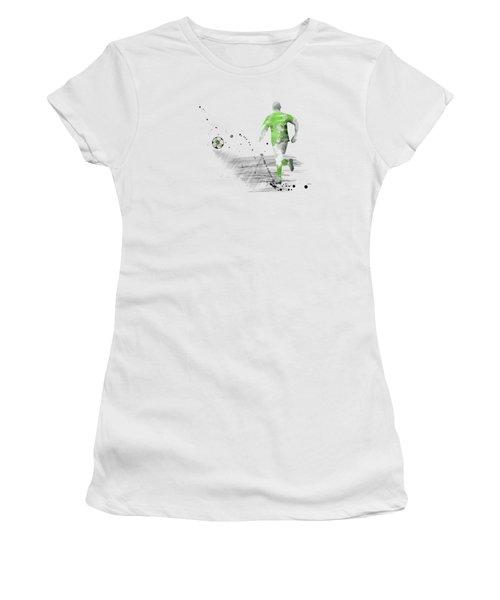 Football Player Women's T-Shirt (Junior Cut) by Marlene Watson