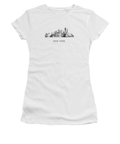 New York New York Skyline Women's T-Shirt (Junior Cut) by Marlene Watson