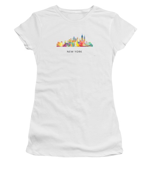 New York Skyline Women's T-Shirt (Junior Cut) by Marlene Watson