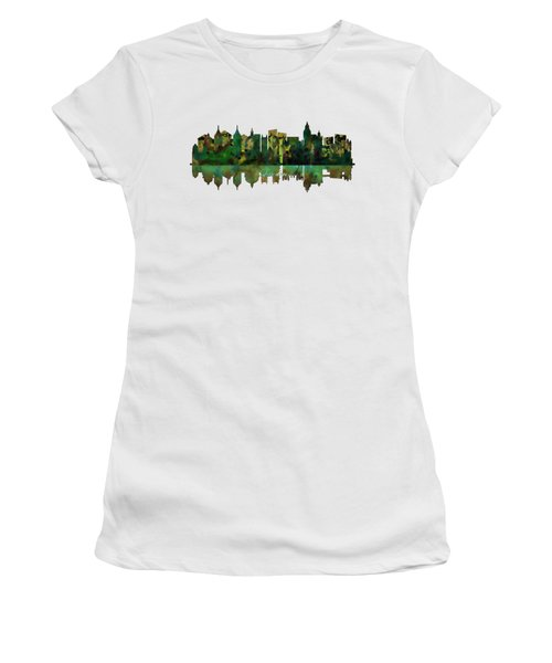 London England Skyline Women's T-Shirt (Junior Cut) by John Groves