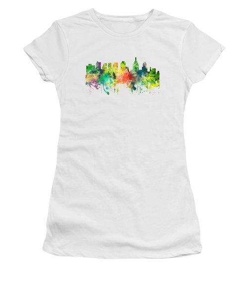 Philadelphia Pennsylvania Skyline Women's T-Shirt (Junior Cut) by Marlene Watson
