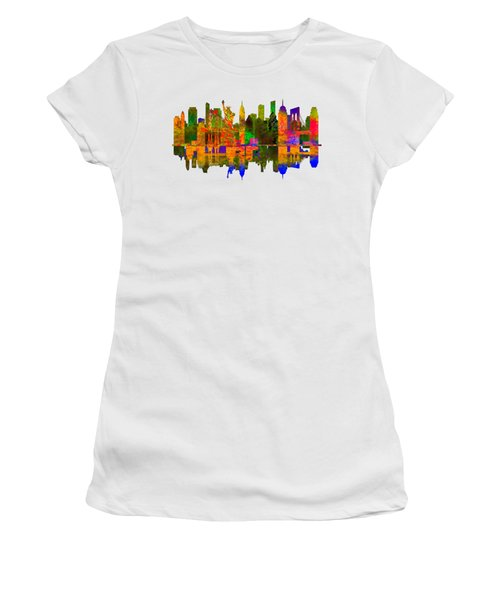 New York Women's T-Shirt (Junior Cut) by John Groves