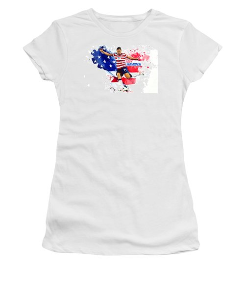 Abby Wambach Women's T-Shirt (Junior Cut) by Semih Yurdabak