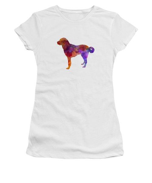 Anatolian Shepherd Dog In Watercolor Women's T-Shirt (Junior Cut) by Pablo Romero