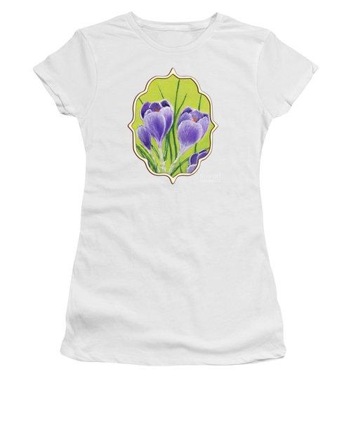 Crocus Women's T-Shirt (Junior Cut) by Anastasiya Malakhova