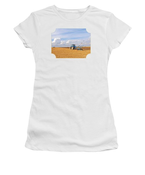 Ploughing After The Harvest Women's T-Shirt (Junior Cut) by Gill Billington