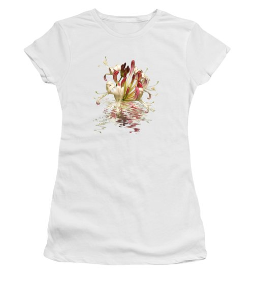 Honeysuckle Reflections Women's T-Shirt (Junior Cut) by Gill Billington