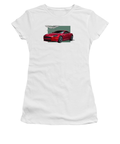 Aston Martin  D B S  V 12  With 3 D Badge  Women's T-Shirt (Junior Cut) by Serge Averbukh