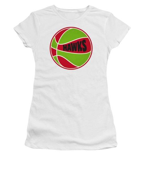 Atlanta Hawks Retro Shirt Women's T-Shirt (Junior Cut) by Joe Hamilton