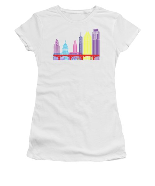 Austin Skyline Pop Women's T-Shirt (Junior Cut) by Pablo Romero