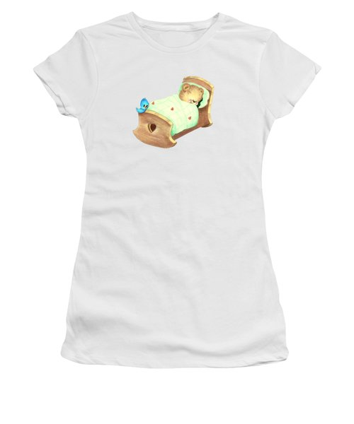 Baby Teddy Sweet Dreams Women's T-Shirt (Junior Cut) by Linda Lindall