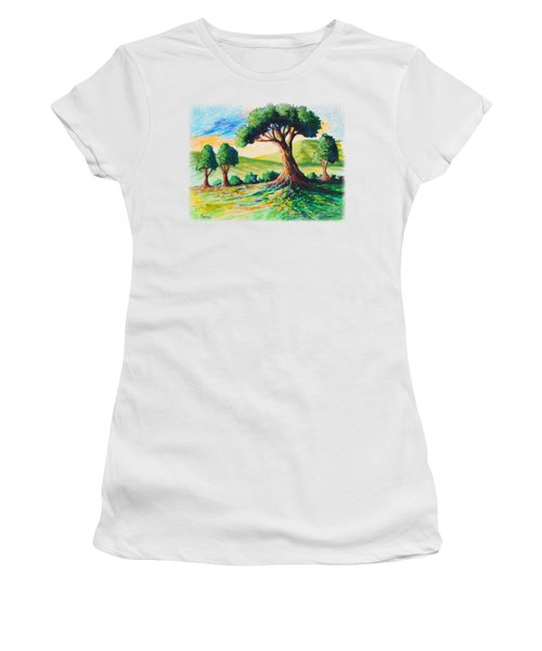 Basking In The Sun Women's T-Shirt (Junior Cut) by Anthony Mwangi