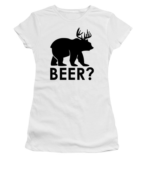 Beer? Women's T-Shirt (Junior Cut) by Frederick Holiday