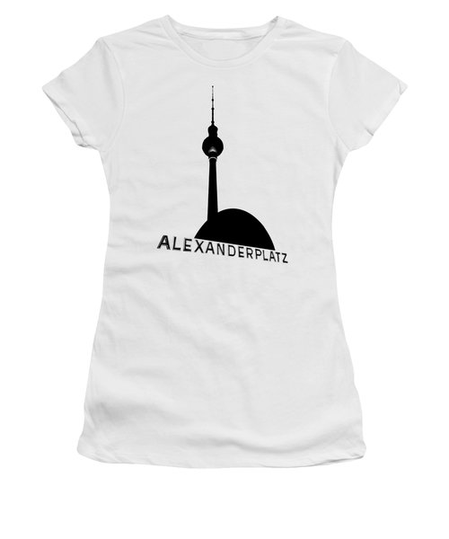 Berlin Alexanderplatz Women's T-Shirt (Junior Cut) by Julie Woodhouse