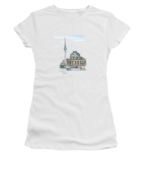 Berlin Fernsehturm Women's T-Shirt (Junior Cut) by Petra Stephens