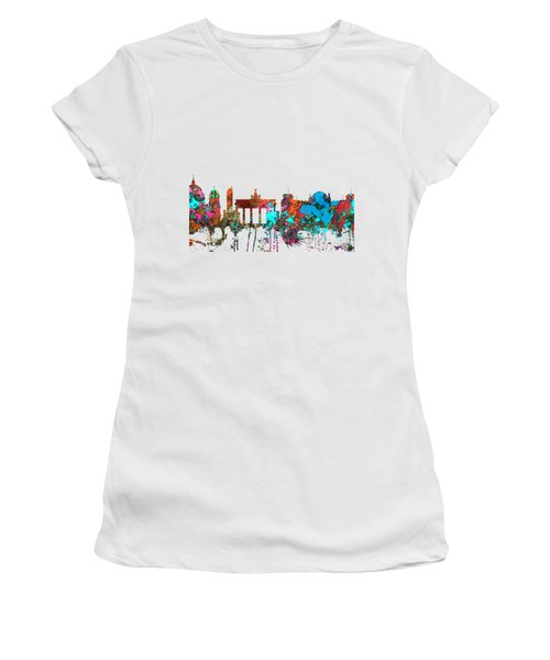 Berlin Germany Skyline  Women's T-Shirt (Junior Cut) by Marlene Watson